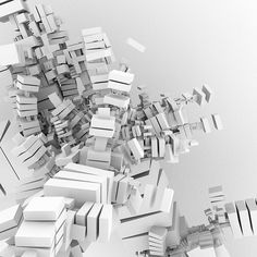 Nabla - by Syntopia (on Flickr) - #white, #bright, #blocks, #3D