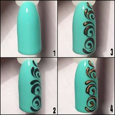 Nail art is a very popular trend these days and every woman you meet seems to have beautiful nails. It used to be that women would just go get a manicure or pedicure to get their nails trimmed and shaped with just a few coats of plain nail polish. Swirl Nail Art, Nail Art Diy, Easy Nail Art, Beautiful Nail Designs, Cute Nail Designs, Beautiful Nail Art, Lace Nails, Flower Nails, Airbrush Nails