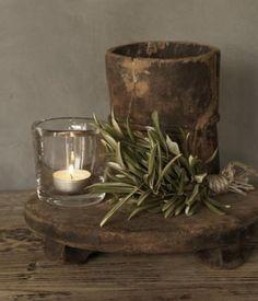 Authentiek oud houten potje