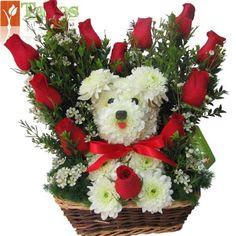 Valentine Flower Arrangements, Creative Flower Arrangements, Valentines Flowers, Beautiful Flower Arrangements, Floral Arrangements, Beautiful Flowers, Valentine Nails, Valentine Ideas, Garden Types