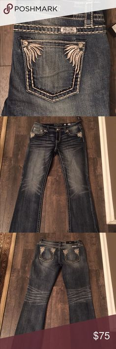 NWT Miss Me jeans! NWT Miss Me jeans. Signature boot - 34 inch inseam. Smoke free home - next day shipping. No trades or holds. Price is firm. All jeans come to me in plastic. Removed from plastic to photograph. All first quality - no defects. 93% cotton 6% polyester 1% elastane. Miss Me Jeans Boot Cut