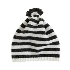 Collection baby cashmere stripe pouf hat - j.crew cashmere - Girl's baby - J.Crew