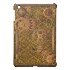 Wood and Copper Steampunk Ipad Mini Case