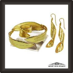 Olive Leaf Set, 24K Gold-plated