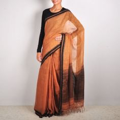 Copper Linen Saree