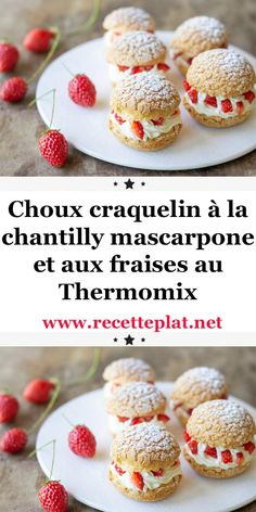 Crackers with mascarpone whipped cream and strawberries with Thermomix - Trend Noodle Side Dish Recipes 2019 Creme Fraiche Dip, Gourmet Recipes, Dessert Recipes, Gourmet Foods, Chocolate Chip Cookies, Thermomix Desserts, Molecular Gastronomy, Pavlova, Macaroons