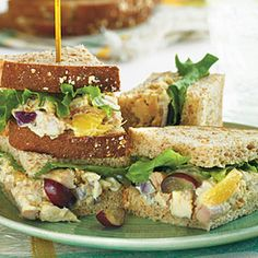 Curried Chicken Salad Sandwiches | MyRecipes.com  #MyPlate #protein #grain #fruit
