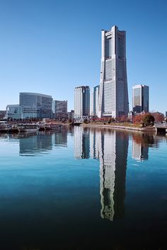 Yokohama Landmark Tower - Yokohama, Japan.  Tallest structure in Yokohama and 3rd tallest in all Japan.  Multiuse,  offices, hotel, shopping.  Architects, Stubbins Associates, Inc.