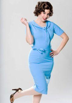 Erin Irrisistable Vintage Style 50s Office Secretary Dress - Mad Men Style