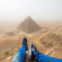Great Pyramid of Giza Egypt. Photo - @andrejcie. #OurLonelyPlanet #Pyramid #Giza…