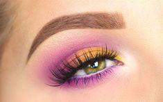 NYX Ultimate Eyeshadow Palette   Brights Tutorial Nyx Brights Palette, Nyx Palette, Eyeshadow Palette, Eyeshadow Tips, Eyeshadow Looks, Makeup Eyeshadow, Bright Eye Makeup, Makeup For Green Eyes, Beauty Kit