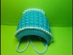 Шапочка - ЧЕПЧИК для ребенка. Детская шапочка. Вязание спицами # 308 - YouTube