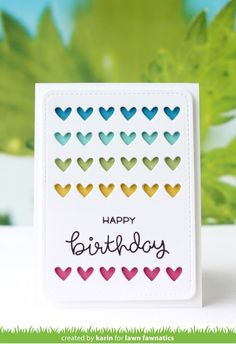 I'm here to share a card for the new Lawn Fawnatics Challenge . This time we have a beautiful color board to inspire you and . Pop Up Cards, Cute Cards, Birthday Wishes, Birthday Cards, Diy And Crafts, Paper Crafts, Paper Craft Making, Lawn Fawn Stamps, Peppermint Patties