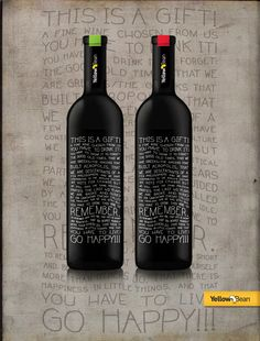 Wine Packaging with hand made custom labels