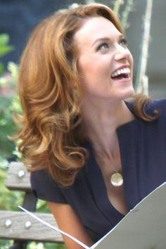 Love her hair on White Collar.