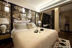 Elegant Chinese-style bedroom decoration 2015
