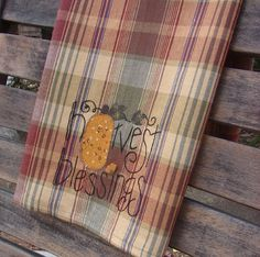 Tea Towel Harvest Blessings Pumpkin Patch Fall by TwoGirlsLaughing