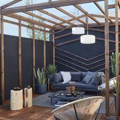 Outdoor Sofa, Outdoor Furniture, Outdoor Decor, Pergola, Apartment Balconies, Small Apartments, Terrace, Sweet Home, Loft