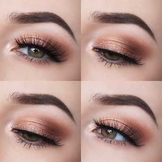 Hottest Eye Makeup Trends for 2018 - Smokey Peach Eyes - It's Time To Check Out What Eyeliner And Make Up Products Are Going To Be Trending For 2018. We Cover Eyeshadows For Different Size Eyes And Faces And Eyeliner That Will Make Those Brown Or Blue Eyes Pop. Pair These Hot Eye Makeup Trends With Dark Lips Using Sexy Lipsticks And The Right Brows And You Are Going To Be Looking Fabulous For 2018. Try The Winged Liner or the Cut Crease Or Keep It Simple And Natural. 2018 Is Yours -