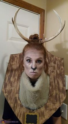 Maura: I was a taxidermy of a deer. I was sitting on my couch trying to figure out what to be for Halloween, and saw the real deer antlers sitting on...