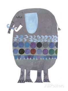 Retro Elephant Art at AllPosters.com