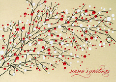 STUNNING BRANCH  Snowflakes and berries cover this 'Stunning Branch,' a standout holiday selection from Greeting Card Collection. - See more at: http://greetingcardcollection.com/products/holiday-cards-holiday-greetings/561-stunning-branch