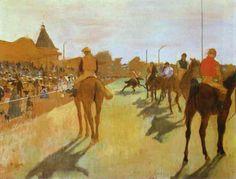 Edgar Degas  Course de chevaux  1868  Huile sur toile  -Musée d'Orsay, Paris