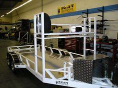 Bear Trailers offers custom car haulers & trailers in California. Lawn Trailer, Quad Trailer, Car Hauler Trailer, Trailer Tires, Trailer Plans, Trailer Build, Utility Trailer, Trailer Suspension, Light Trailer