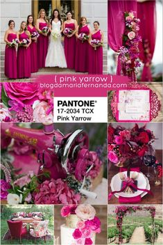 Decoração de Casamento : Paleta de Cores Pink Yarrow | Wedding Color Palette Pink Yarrow | Pantone Colors 2017