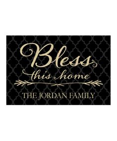 Look at this 'Bless This Home' Personalized Doormat on #zulily today!