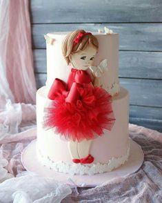 New birthday party cake ballerina Ideas Baby Girl Cakes, Baby Birthday Cakes, Baby Doll Cake, Doll Cakes, Birthday Parties, Birthday Kids, Beautiful Birthday Cakes, Beautiful Cakes, Pretty Cakes