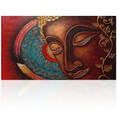 Visual Art Decor Buddha Canvas Wall Art Buddha Painting Canvas Prints Keep inner Peaceful Buddha Artwork for Living Room Yoga Room * Read more at the image link. (This is an affiliate link) Ganesha Painting, Buddha Painting, Fabric Painting, Painting Canvas, Buddha Artwork, Buddha Canvas, Artwork For Living Room, Canvas Wall Art, Canvas Prints