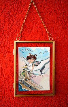 Deco Originale, Illustrations, Portrait, Frame, Painting, Home Decor, Art, Picture Frame, Art Background