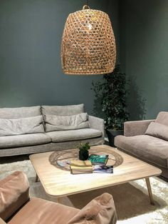 2019 home decor trends for Maison et Objet January 2019 - ClemATC - Tim Antrack Simple Living Room, Living Room Grey, Bamboo Sofa, Chandelier Bedroom, Front Rooms, Vinyl Plank Flooring, Decorating Coffee Tables, Home Decor Trends, Lounges
