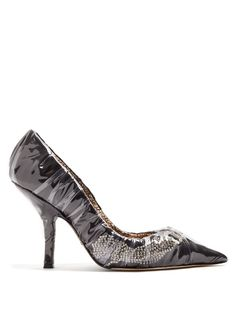 3b12af2d8bae Paciotti by Midnight Crystal embellished ruched satin pump