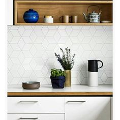 @makemyhousehome on Instagram: Keeping things simple with tile details #tiles #white #kitchen...