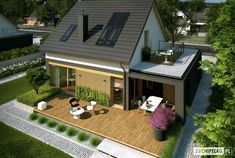 1 million+ Stunning Free Images to Use Anywhere Minimal House Design, Small House Design, Modern Exterior House Designs, Dream House Exterior, Village House Design, Village Houses, Architect Design House, Fairytale House, House Construction Plan
