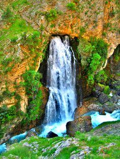 Kapuzbaşı Waterfall at Kayseri- Turkey