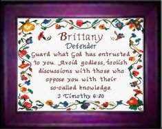 Devon - Name Blessings Personalized Cross Stitch Design from Joyful Expressions Cross Stitch Charts, Cross Stitch Designs, Stitch Patterns, Embroidery Patterns, William Name, Watch And Pray, Names With Meaning, Meaningful Gifts, Gifts For Family