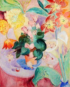 Sigrid Hjertén (Swedish, 1885 - 1948) Still Life 1917