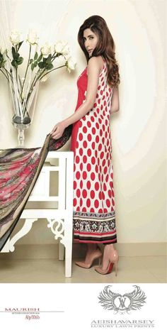 Womens Fashion Pakistani Designer Suits Haute Couture for work / Party and Casual wear- Aeisha Varsey collection. In Rich Hot Red Latest Summer Pakistani Luxury Lawn Collection. Embroidered Lawn Shirt with Pure Chiffon Dupatta and Lawn Trouser.