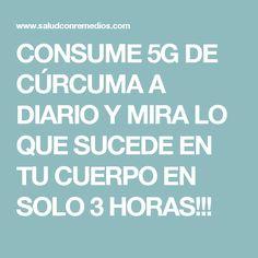 CONSUME 5G DE CÚRCUMA A DIARIO Y MIRA LO QUE SUCEDE EN TU CUERPO EN SOLO 3 HORAS!!!