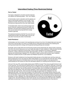 INTERMITTENT FASTING (TIME-RESTRICTED EATING): Fed vs Fasted - Insulin Resistance - Fat Adaptation - Less Feeding, More Fasting - Metabolic Exercise - Avoid Carbohydrates - Fasting Myths - How to Fast Intermittently + MORE