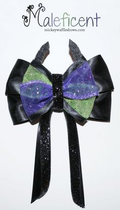 Hey, I found this really awesome Etsy listing at http://www.etsy.com/listing/170055861/maleficent-hair-bow