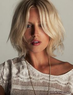 awesome layered medium blonde hairstyle idea - Hairstyle Ideas