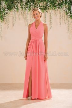 Jasmine Bridal Bridesmaid Dress B2 Style B183008 in Coral //