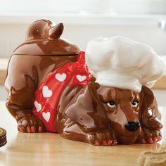 Dachshund Pastry Pup Cookie Jar Chef Hat Doggie Treat Holder Wiener Hot Dog Westland Giftware,http://www.amazon.com/dp/B00HNERPK4/ref=cm_sw_r_pi_dp_BKcZsb1T404XNWGT