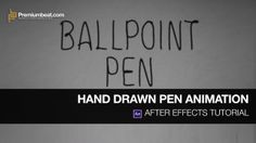 After Effects Hand Drawn Pen Tutorial. Learn how to create a hand drawn animation in this Adobe After Effects quick tutorial!  This stop mot...