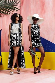 We are loving these black and white tribal vibes!