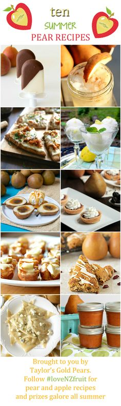 Summer pear recipe roundup and Vitamix #giveaway! #loveNZfruit